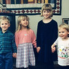 This was taken in 1998 in Springfield, OR at the Knausses house. Evan is on the left and Katie is second from the right. That is Cora Knauss next to Evan and Grace Knauss on the right.