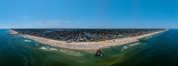Perfect Beach Day Over Avon-by-the-Sea, Jersey Shore Panorama 6/30/18