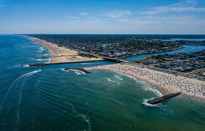 Perfect Beach Day Over Shark River Inlet, Jersey Shore 6/30/18