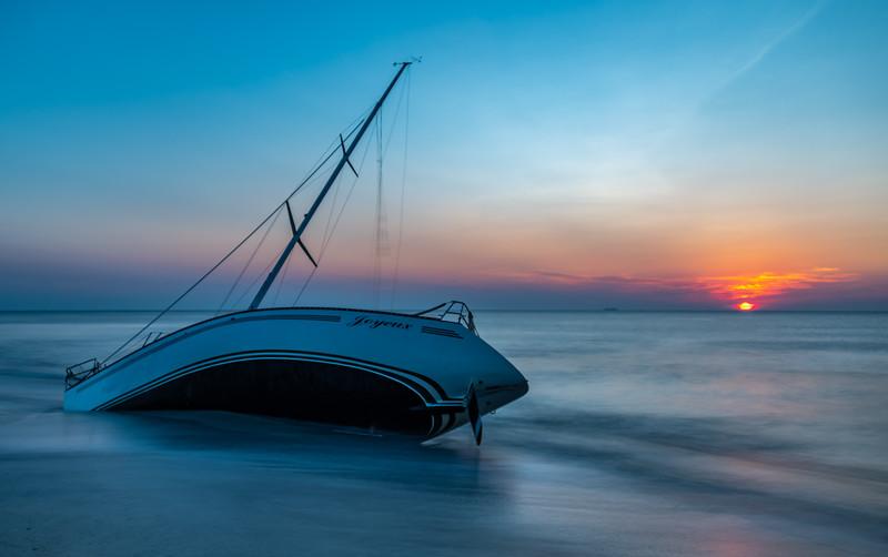 Sunrise Over Abandon Sailboat 7/14/19