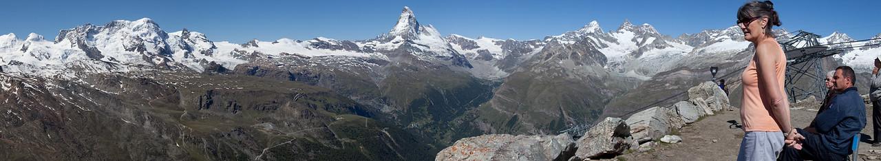 panorama of Matterhorn from Rothorn