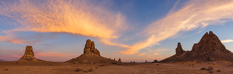 Trona Pinnacles Sunset: Fire In the Sky