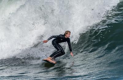 Surfer Enjoying Rough Seas From Hurricane Jose in Manasquan 9/17/17