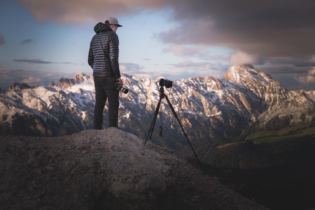 Andrew Studer in the Dolomites