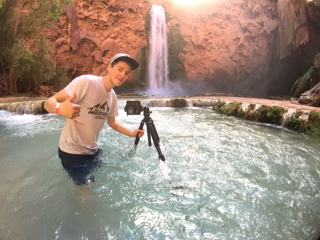 Andrew Studer in Havasau Falls, Arizona