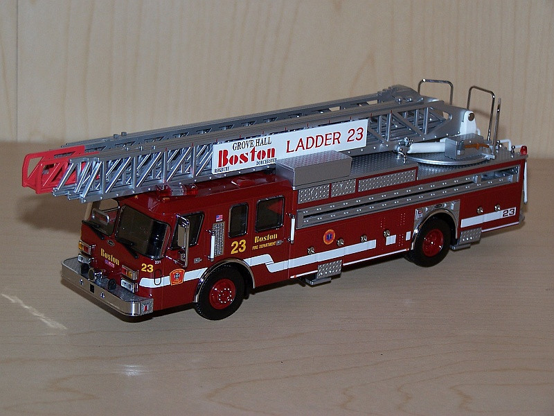Boston Fire Department Ladder 23 - E-One, 110 ft.- Code 3 Collectibles 1/64 scale