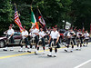 The Greater Boston Firefighters Pipes & Drums at Westford's Anniversary Parade in July of 2008.
