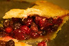 pie, cranberry and raisin