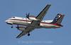 Colgan Air SAAB 340B on final approach to Boston Logan International, 1-8-09.