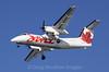 Air Canada Jazz, DeHavilliand Dash-8 on final approach to Boston Logan, 1-16-09.