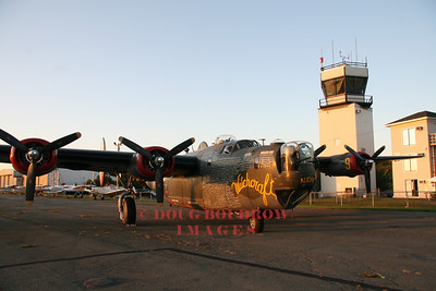 B-24 at Beverly Airport at sunset, 9-19-08