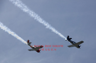 Two T 38s fly over Marblehead, MA for the Marine Aviation Centennial celebration, 8-4-12.