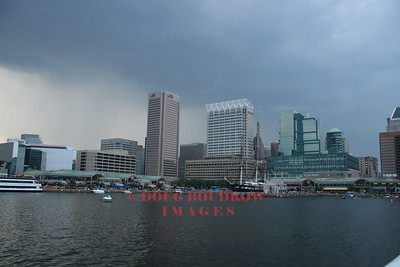 Baltimore, MD - Inner Harbor with storm approaching, 7-21-07