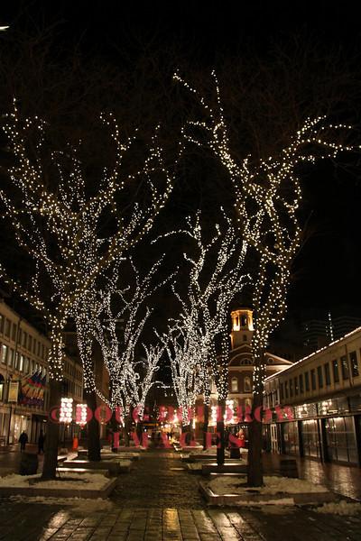 Boston, MA - Faneuil Hall on Christmas Eve, 12-24-09.