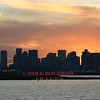 East Boston, MA - View towards Logan Airport and city skyline at dusk, 1-13-06