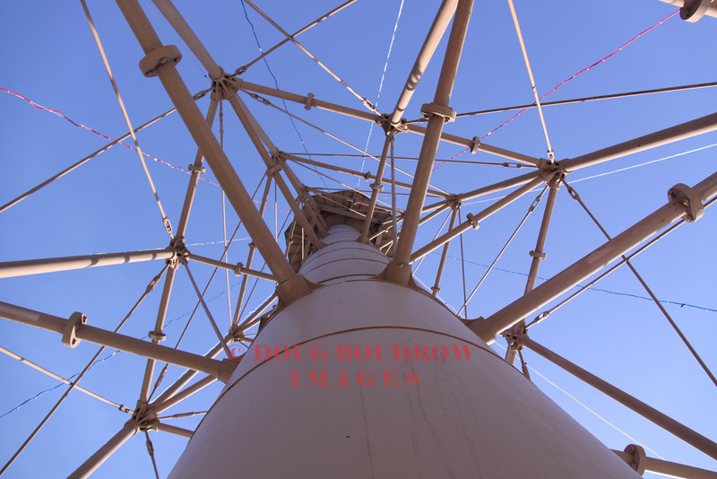 Looking up the middle of Marblehead Light.