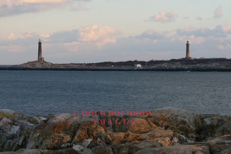Thatcher Island Twin Lights - Rockport, MA. First lit in 1861.