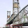 Porsmouth, NH - Draw bridge begins to raise, 1-15-09.