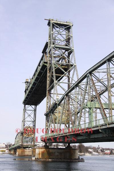 Porsmouth, NH - Draw bridge at full height, 1-15-09.