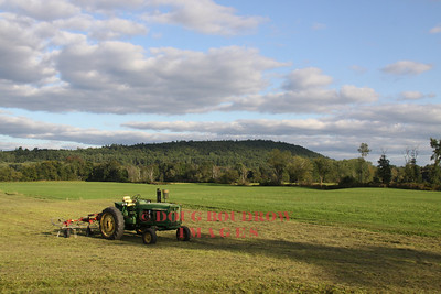A lonely John Deere sits in a field in Conway, 9-18-10.