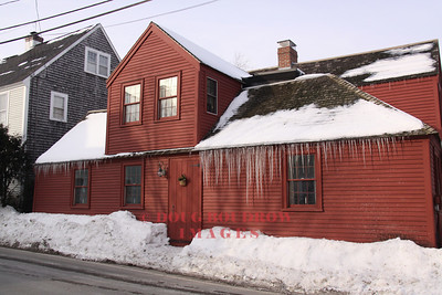 New Castle, NH - Large icicles hung from this local business on this frigid January day, 1-15-09.
