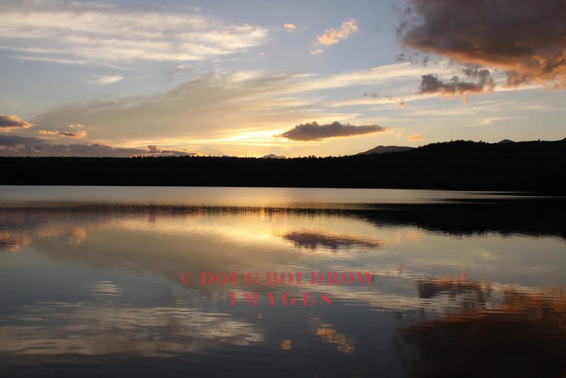 Chocorua Lake in Tamworth at dusk, 9-19-10