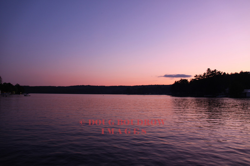 Laconia, NH - Paugus Bay of Lake Winnipesaukee at dusk, 7-9-09.