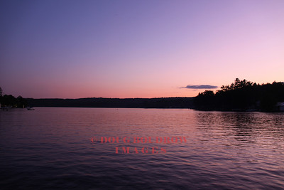 Laconia, NH - Paugus Bay of Lake Winnipesaukee at dusk, 7-9-09.