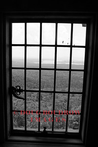 "Moultonborough, NH - Looking out one of the windows of ""Castle in the Clouds"" to Lake Winnipesaukee, 7-11-09."