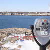 Marblehead, MA - Viewfinder at Marblehead Neck, looking towards Downtown Marblehead, 1-16-09.