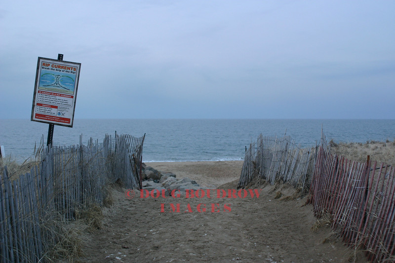 Newbury, MA (Plum Island)- View looking towards the open ocean from the beach, 2-22-07