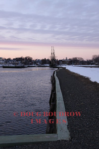 Salem, MA - Looking from the end of Derby Wharf towards the Friendship, 1-15-09.