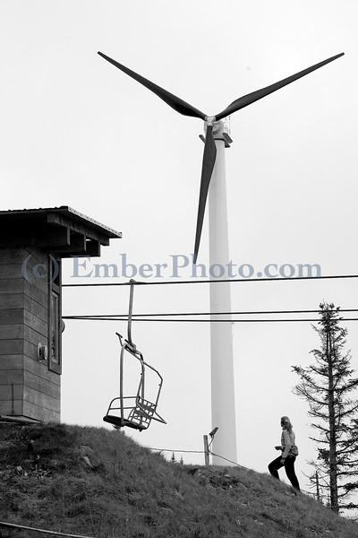Wind turbine at Bolton Valley Ski Area