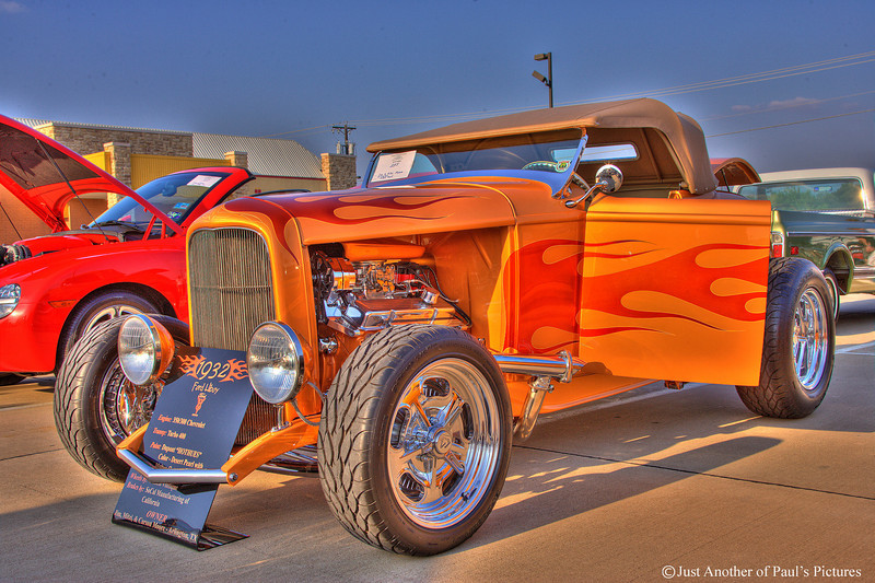 1932 Ford Roadster...3 image HDR  1 2/3 stops apart. CCCar Show 04-21-07