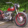 Custom Triumph Bike at Up N' Smoke BBQ, Keller TX