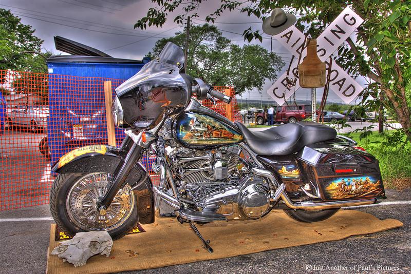 Custom Harley at Up N' Smoke BBQ, Keller TX