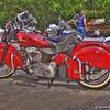 Indian Motorcycle at Up N' Smoke BBQ, Keller TX
