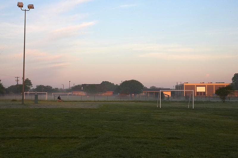 A Foggy April Morning Sunrise