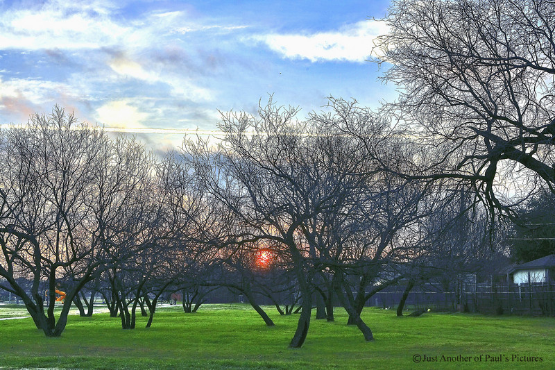 Sunrise over NoRich Park..Darned Vapor Trails!