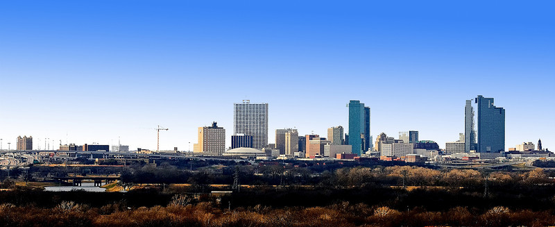 Ft. Worth Texas Skyline. Courthouse to T