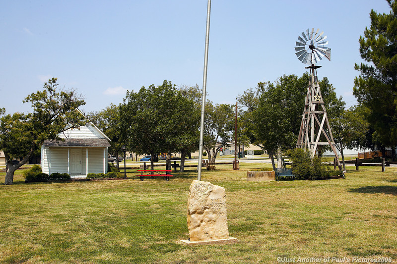 Windmill  in the Park. Ponder Texas