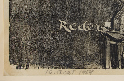 Bernard Reder - corner of print dated  AOUT (august)  16 1954