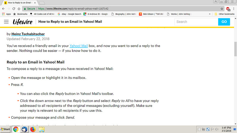 HOW TO REPLY TO EMAIL IN YAHOO