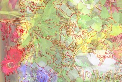 floral chiffon