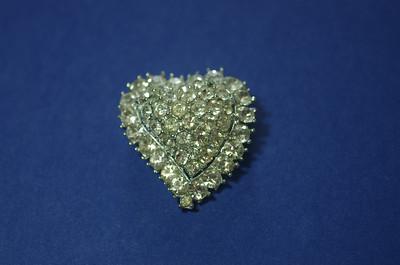 Kramer rhinestone heart SOLD