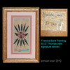 """signed Sand Painting... this is small  9"""" x 6"""" outside frame dimensions"""