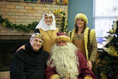 Santa and his entourage