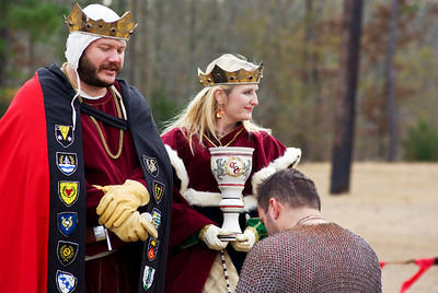 Tournament winner Camric receives large loving cup made by Mistress Marion