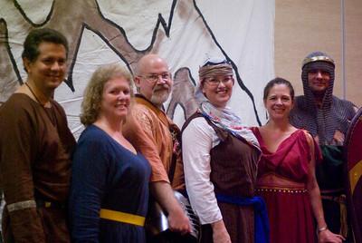 Stephen, Ariadne, Fergus, Roz, Peyton, & Drogo