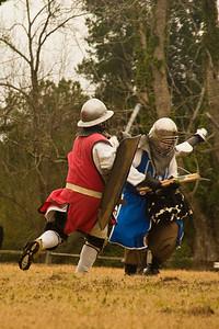 Duke Padruig making short work of an archer.